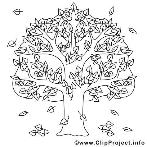Kostenlose Vorlage Baum eiche ausmalbild gratis baum im herbst