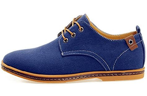 mens canvas oxford shoes dadawen s canvas oxford casual shoes