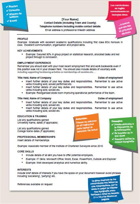 Modelo Curriculum Europeo Ingles modelo de curriculum vitae reino unido modelo de