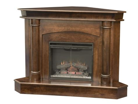 regal corner fireplace indiana amish wood fireplace