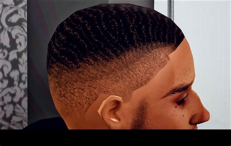black male hair cc sims 4 urbansimboutique wave fade pack cc for sims 3