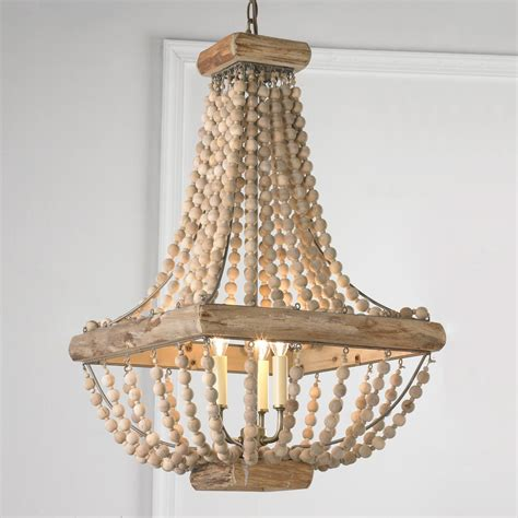 wood bead chandelier from bedrooms to garden solarium spaces this wood bead chandelier