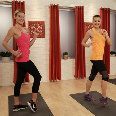 living room cardio at home cardio workout popsugar fitness