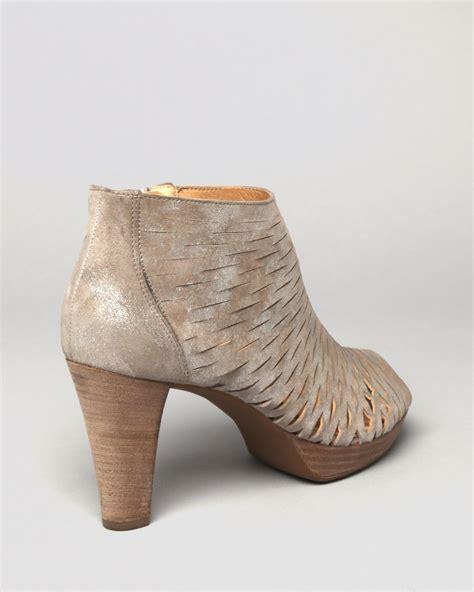 peep toe high heel booties paul green peep toe platform booties tacey perforated high