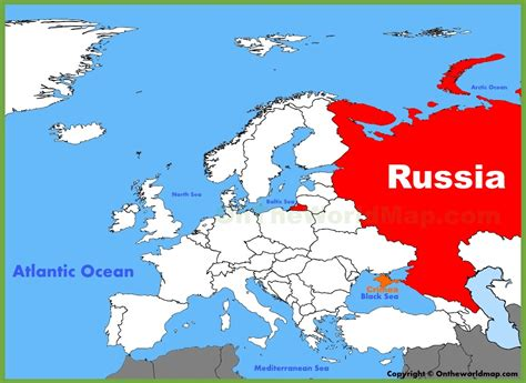 russia on map russia location on the europe map