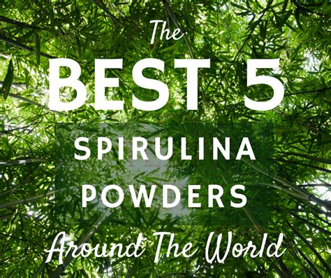what is the fastest best 5 spirulina powders from around the world what is spirulina