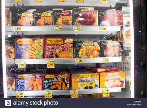 Freezer Frozen Food kosher frozen food freezer of large american supermarket stock photo royalty free image