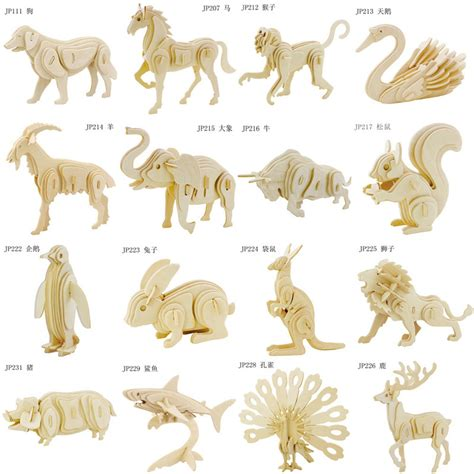 3d Puzzle Animal A aliexpress buy 3d three dimensional wooden animal