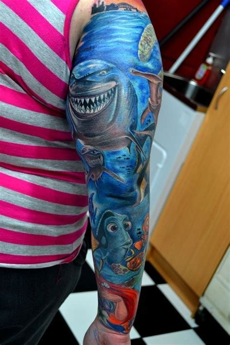 finding nemo sleeve tattoos