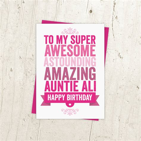printable birthday cards for aunt free personalised birthday card for auntie aunt aunty by a