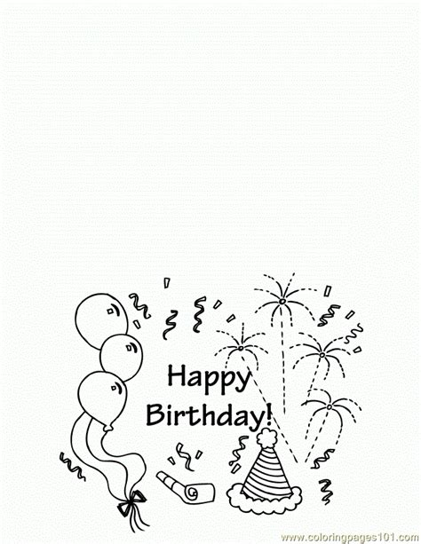 printable greeting cards for coloring coloring pages birthday greeting card 650x841