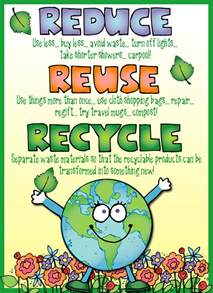 this cute reduce reuse recycle poster was made using