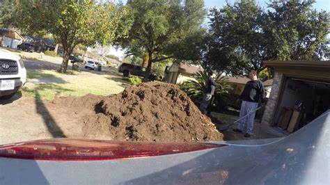 moving 7 cubic yards of dirt for the garden