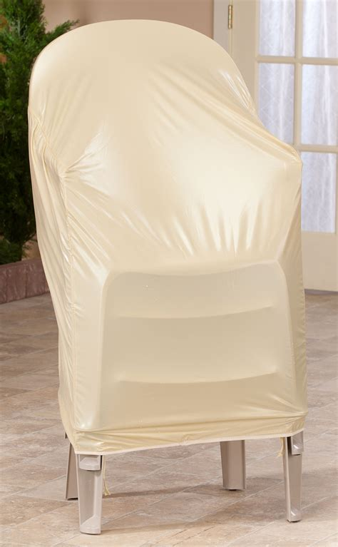 Garden Stacking Chair Covers by Beige Stacking Chair Cover Ebay