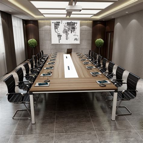 Big Meeting Table 2017 Top Design Boardroom Office Furniture Wooden Glass Rectangular Conference Table Modern