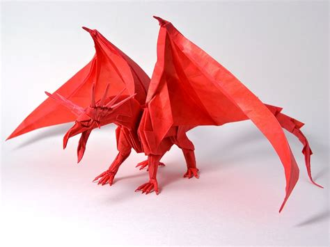 Origami Drache Anleitung by Get Fired Up For These Origami Dragons