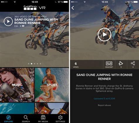 Vr Untuk Android gopro merilis aplikasi vr untuk iphone dan android insightmac