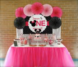 Cheap Wall Stickers Australia minnie mouse first birthday party little wish parties