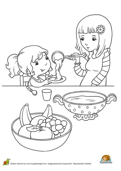 Coloriage repas famille j sur Hugolescargot.com