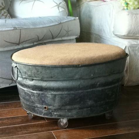 wash tub ottoman im  making  diy