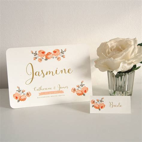 wedding place cards with guest name printing 2 classic garden table name and guest place cards by ditsy chic notonthehighstreet
