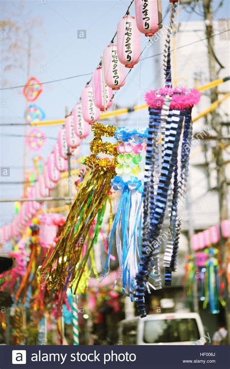 festival decorations japanese traditional tanabata festival decorations stock
