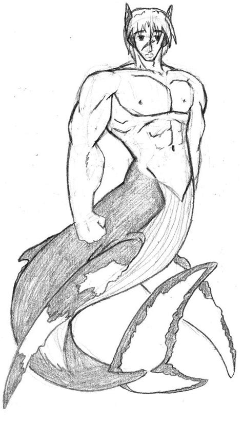 Merman Drawing Pictures To Pin On Pinterest Pinsdaddy Merman Coloring Pages