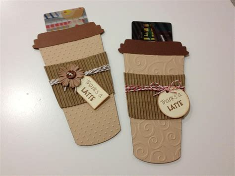 Coffee Cup Gift Card Holder - handmade cards invitations the crafting mama