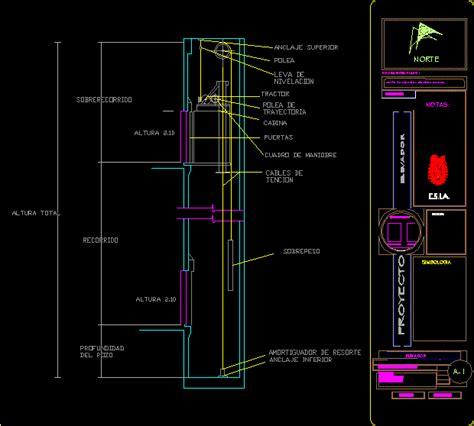 elevator dwg section  autocad designs cad