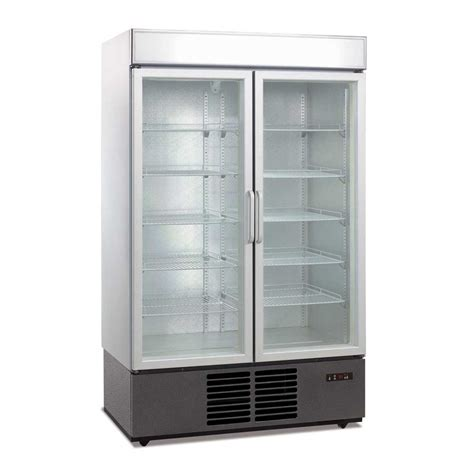 1000l glass door drink display fridge
