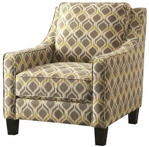 pattern accent chair grey and yellow pattern accent chair from coaster 902428