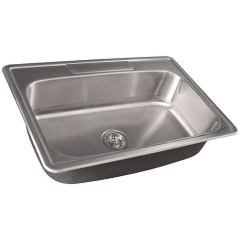 Overmount Kitchen Sinks Stainless Steel Ticor S994 Overmount Stainless Steel Single Bowl Kitchen Sink