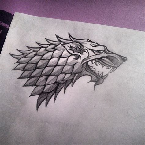 dire wolf tattoo stark sigil by catchingflight on deviantart