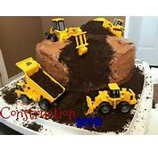 Construction Cake For A Boys Bday Party  Cakes Pinterest