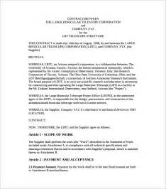 Template Of Contract Between Two by Sle Contract Agreement 7 Free Documents In
