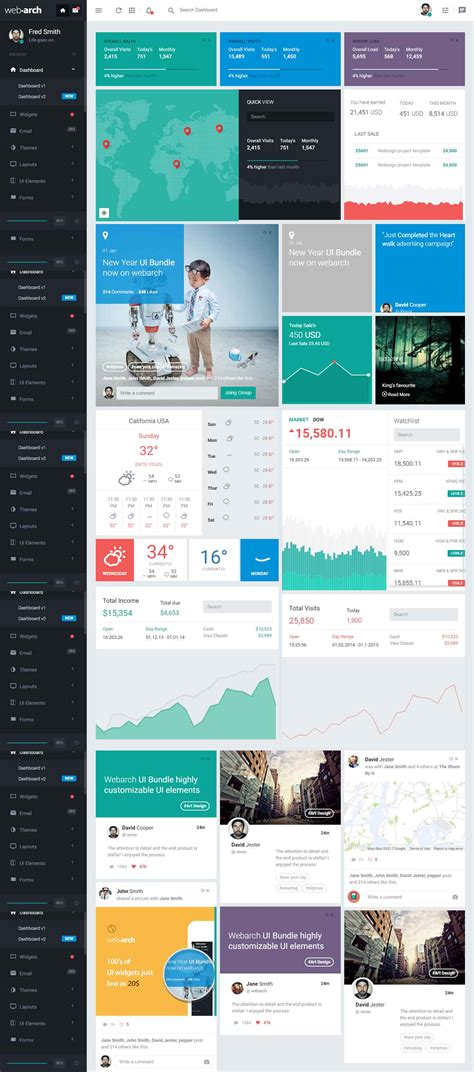 Responsive Dashboard Template webarch responsive admin dashboard template