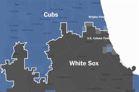 chicago cubs fan map up on baseball s borders the new york times