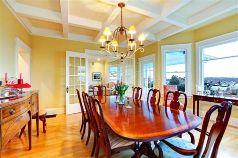 golden bright yellow luxury dining room  elegant