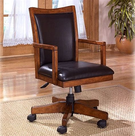 wood and leather swivel desk chair home furniture decoration desk chairs wood