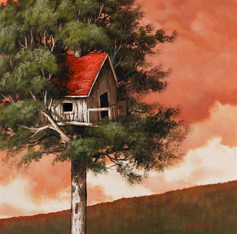 house paintings sunset tree house painting lesson on dvd tim gagnon studio