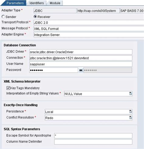 jdbc tutorial sap pi how to configure jdbc adapter in sap pi