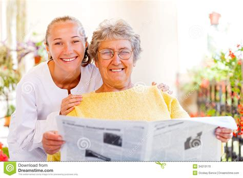 elderly home care stock photo image 34213170