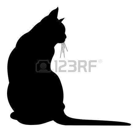 Tattoos Familie Vorlagen 3174 by Silhouette Chat Silhouette De Chat Noir Illustration