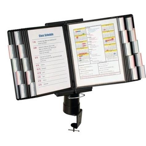 Aidata Fds011l 20 Desk Cl Document Holder 20 Pocket Document Stand For Desk