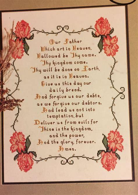 kingdom pattern for prayer lord s prayer cross stitch pattern leaflet 1 creations by