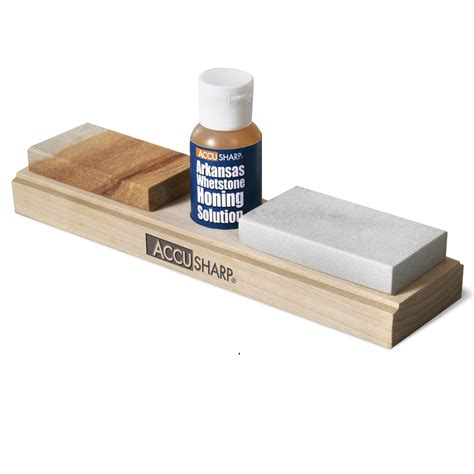 accusharp arkansas whetstone combo knife sharpening kit