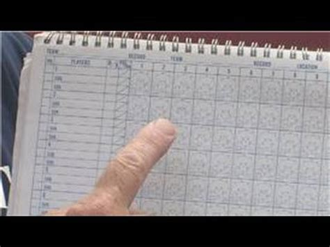 Out To Score baseball information how to use a baseball score book
