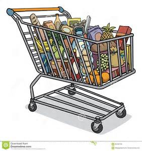 shopping cart grocery cart with food www imgkid the