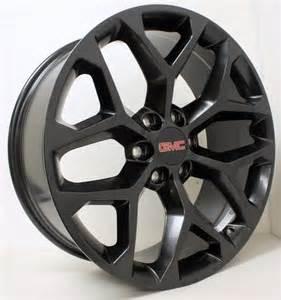 Black Gmc Truck Wheels New 22 Inch Gmc Black Snowflake Wheels Rims Gmc