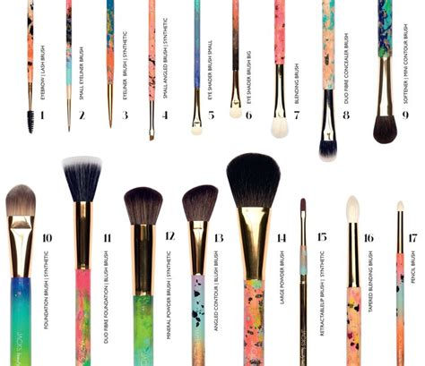 Handmade Makeup Brushes - all 17 jacks line brushes every brush is unique
